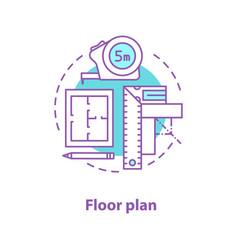 floor plan concept icon vector image