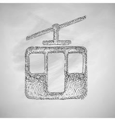 Funicular icon vector