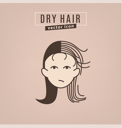 Hair problem icon vector