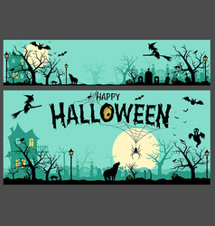 Halloween background and banner vector