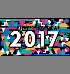 happy new year 2017 vintage lettering design vector image
