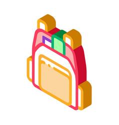 Human shop backpack isometric icon vector