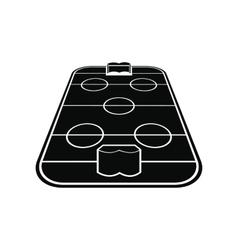 Ice hockey rink icon vector