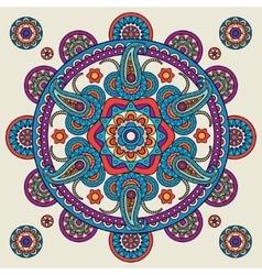 Indian doodle paisley boho mandala vector