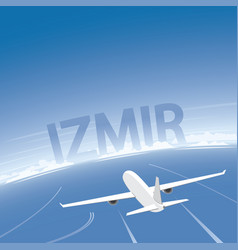 Izmir flight destination vector