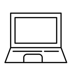 laptop thin line icon computer vector image
