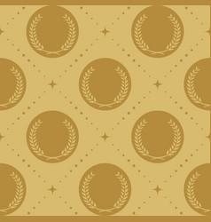 laurel wreath seamless pattern vector image