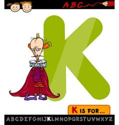 letter k for king cartoon vector image
