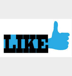 Like web icon vector