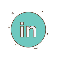 linked in icon design vector image