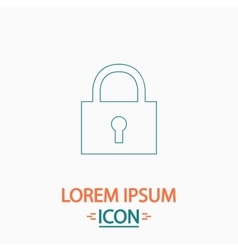 Lock pad computer symbol vector