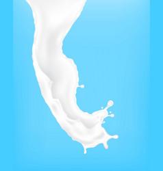 Milk splash vector