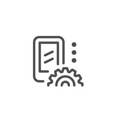 Mobile repair line icon vector