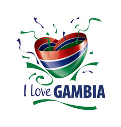 national flag gambia in shape a vector image