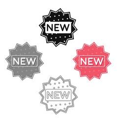 new icon in cartoonblack style isolated on white vector image