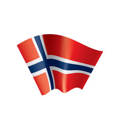 Norway flag on a white vector