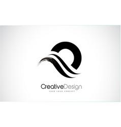O letter design brush paint stroke vector