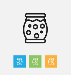 Of meal symbol on jam jar vector