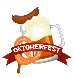 Oktoberfest welcome to beer festival invitation vector