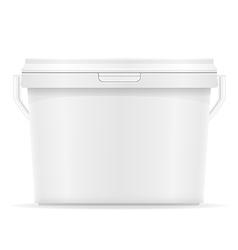 Plastic bucket for paint 07 vector