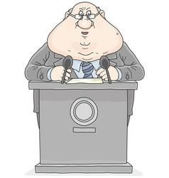 politician giving a speech vector image