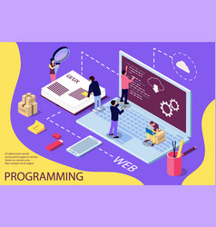 programming concept banner can use for web vector image