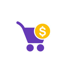 Purchase order icon on white vector