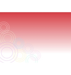Red cheerful Background With Circles vector