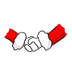 Santa claus handshake sketch doodle vector