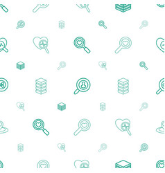 Search icons pattern seamless white background vector