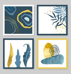 set abstract with watercolor vector image