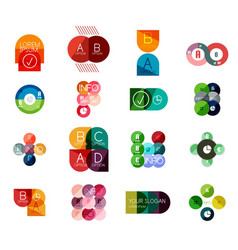 Set of circle business infographic templates vector