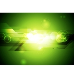Shiny green tech abstract background vector