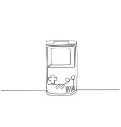 single continuous line drawing portable arcade vector image