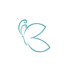 Stylish butterfly letter b logo icon vector