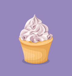 sweet colorful dessert on a purple background vector image
