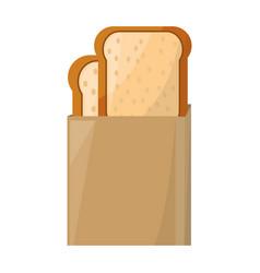 Toasted bread box vector