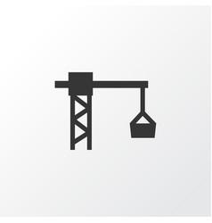 Tower crane icon symbol premium quality isolated vector