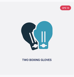 Two color two boxing gloves icon from sports vector