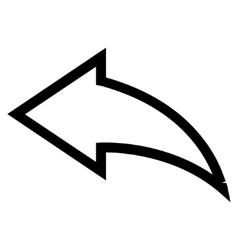 Undo Stroke Icon vector