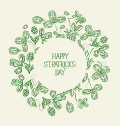 vintage st patricks day green template vector image