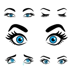 women eyes expressions set 2 vector image