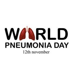 World pneum day 12 nov ill vector