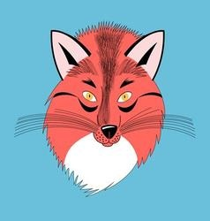 beautiful portrait of a red Fox vector image vector image