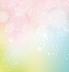 bokeh and smooth pastel background vector image vector image