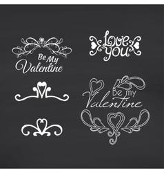 Happy Valentines Day Blackboard background vector image