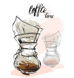 quote coffee hand drawn typography poster for vector image