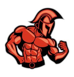 spartan muscle posing vector image