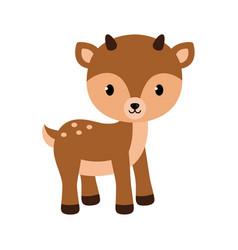 adorable little deer in flat vector image vector image