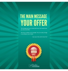 Banner with special offer Business background vector image